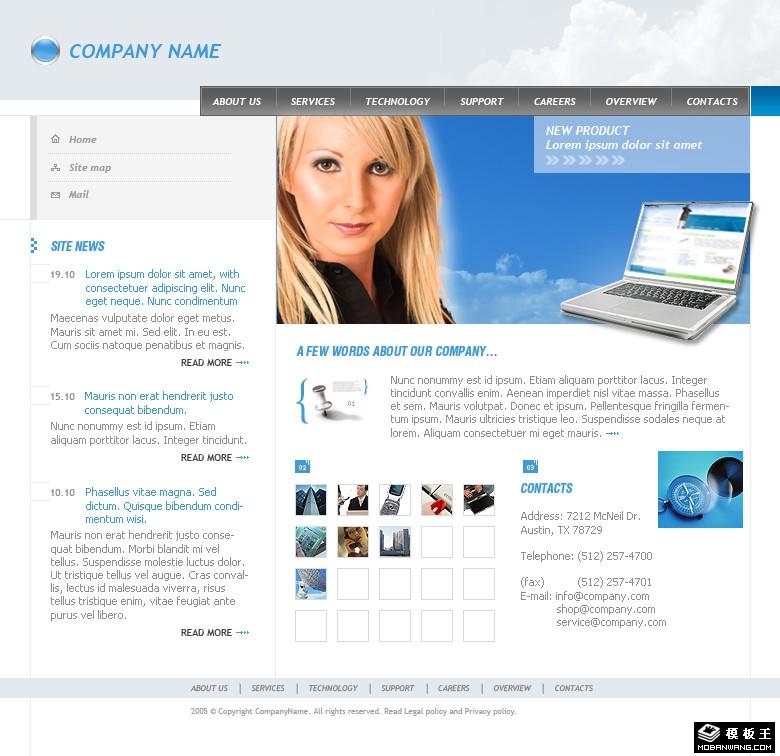 医院模板分享; 婚礼派对宣传网页模板 - 不一样的视觉感受-站长模版