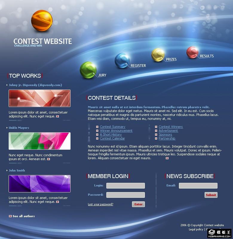站长模版网; 免费蓝色网页模板分享; 韩国女性手机网页模板 - 不一样