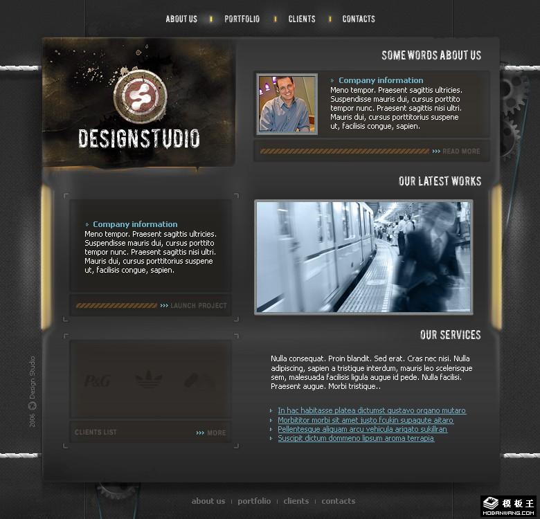 创意工厂设计工作室网页模板免费下载_模板王; 设计类专题 - 站长模版