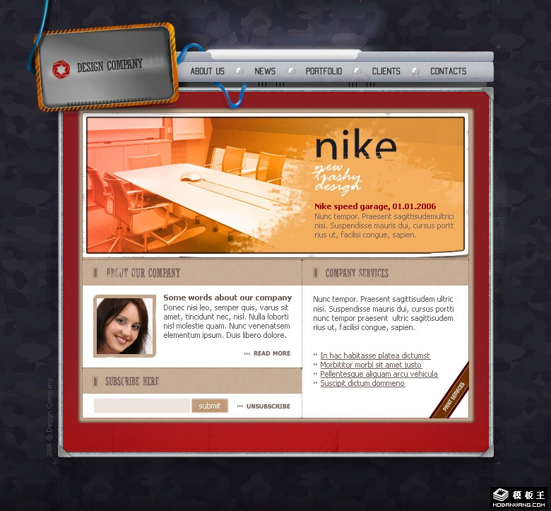 个人设计作品展示网页模板