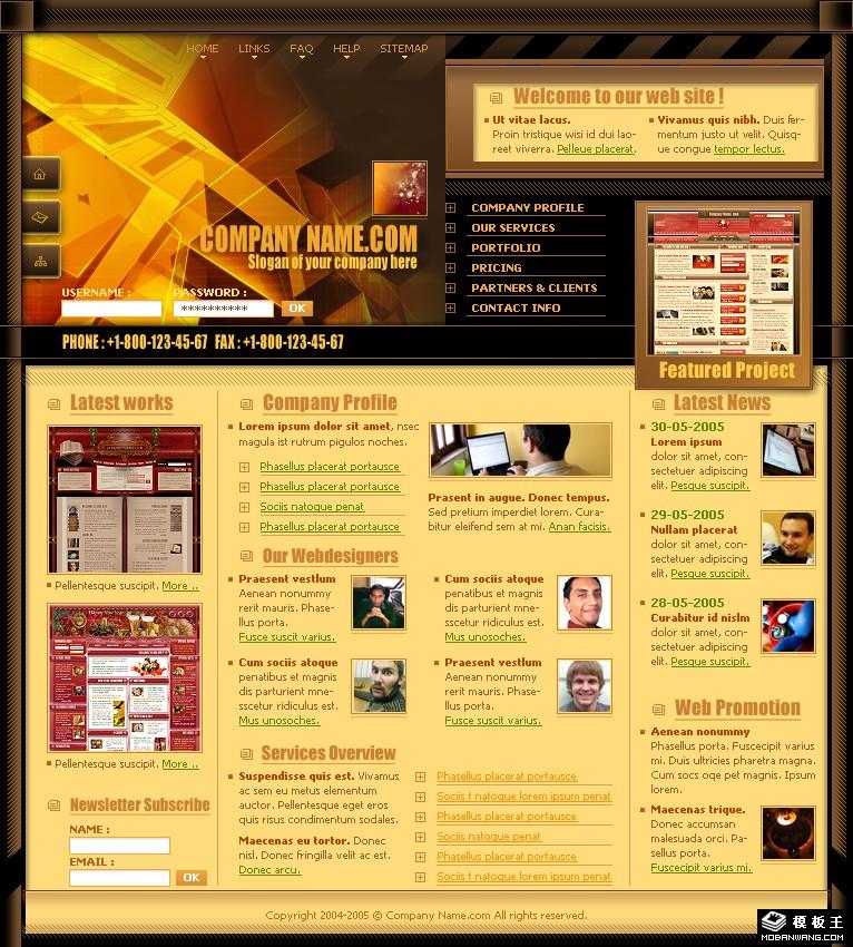 ui设计制作公司网页模板