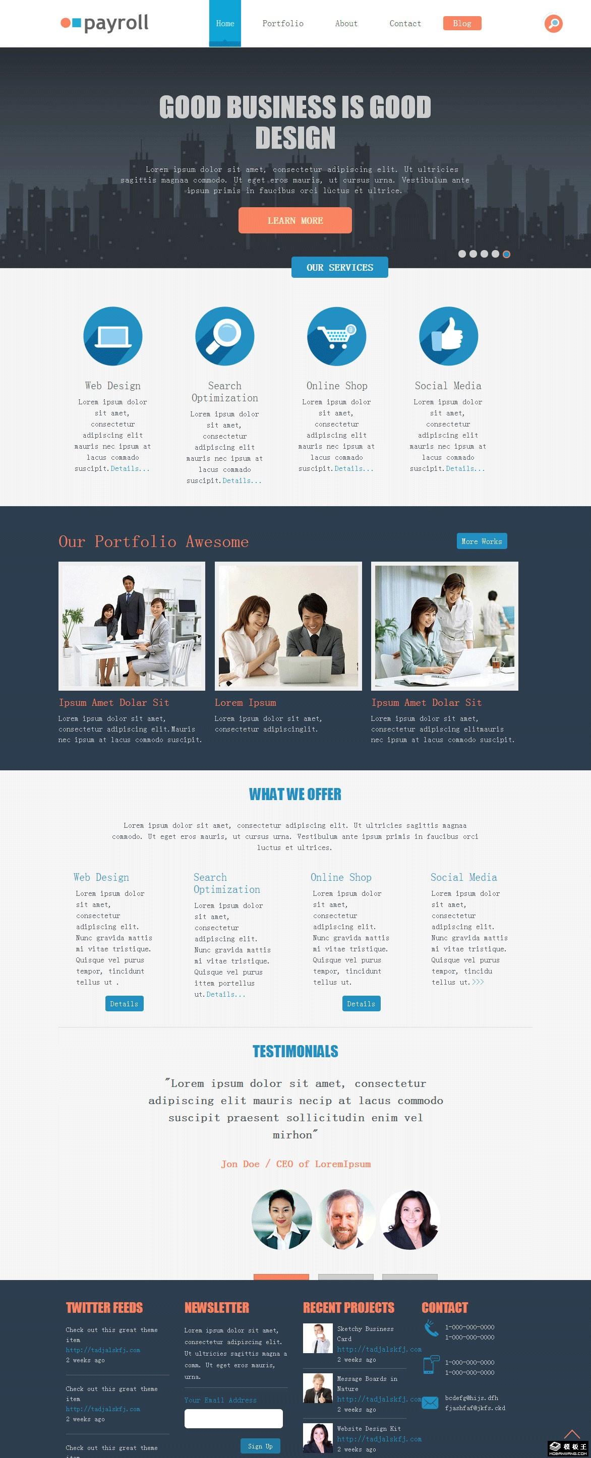 财务会计公司响应式网页模板