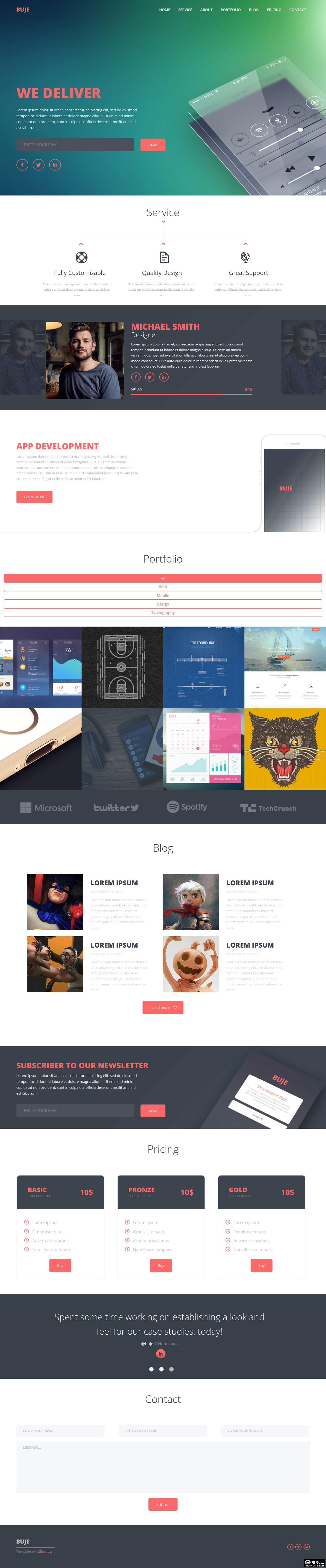 设计师服务动态响应式网页模板