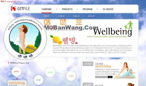 韩国女性娱乐网站模板
