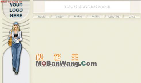 欧美个人网站模板