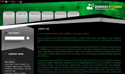 欧美个性网站模板