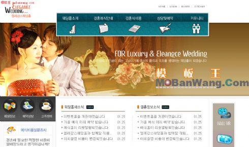韩国蜜月旅行网站模板