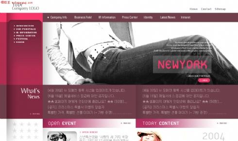 韩国疯狂女性网站模板