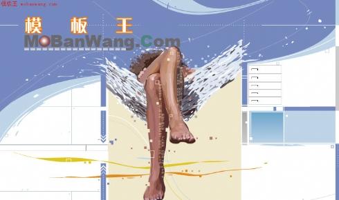 欧美个人艺术设计工作室版面模板