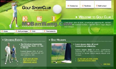 欧美高尔夫球运动介绍网模板