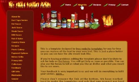 欧美烹饪配料销售网页模板