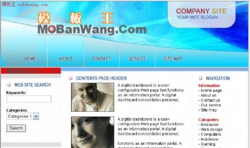 欧美IT公司介绍网站模板
