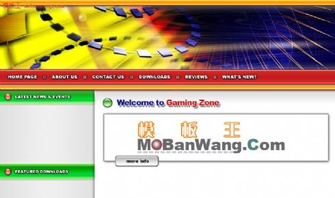 欧美赌博地带网站模板