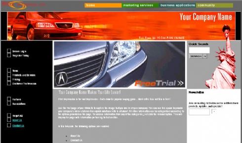 欧美动物园绿色网站模板