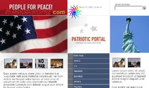 美国和平主题网页模板
