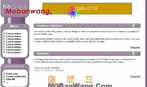 简洁企业紫色网页模板