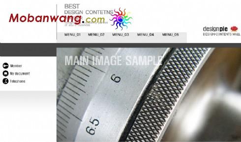 黑白简单企业网页模板