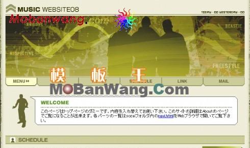 日本R&B音乐网站模板