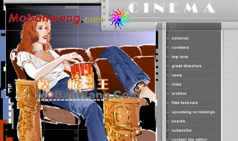 欧美电影院网站模板