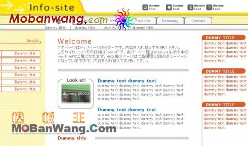 日本企业信息网页模板