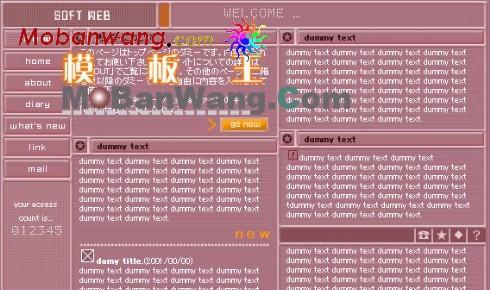 信息收集个人网页模板