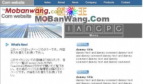 日本软件企业网页模板