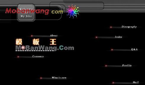 黑色太空主题网页模板