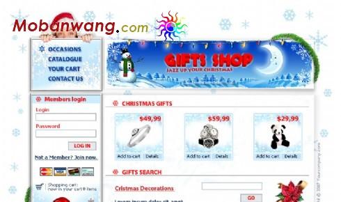 圣诞节礼品商店网页模板