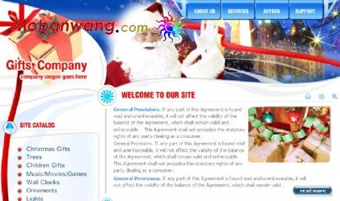 圣诞节礼物销售公司网页模板