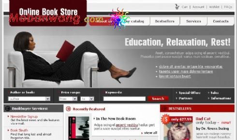 在线书店网页模板