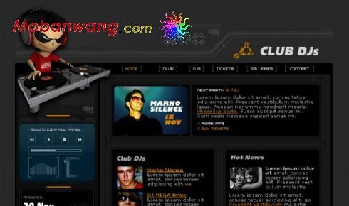 黑色音乐DJ俱乐部网页模板