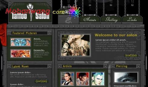 纹身沙龙网页模板