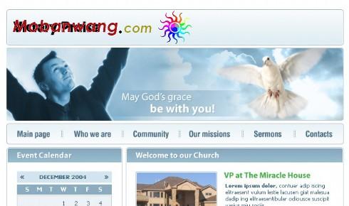 教堂圣洁网页模板