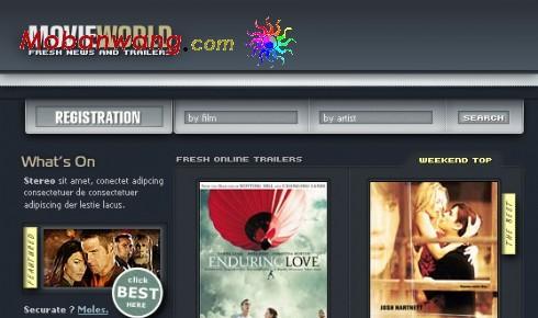 世界电影资料网页模板