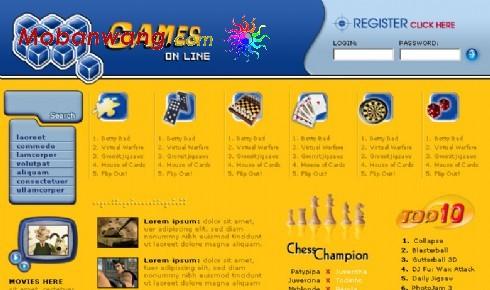 棋牌游戏在线网页模板