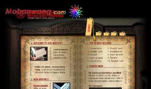 玄幻书库网页模板