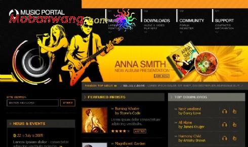 音乐唱片公司网页模板