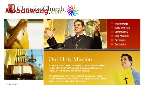 基督教会网页模板