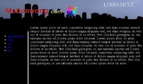 黑色城市网页模板