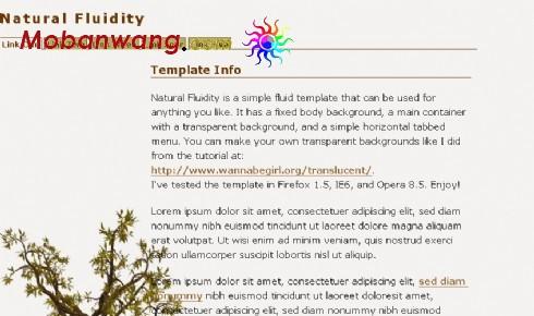 自然变化信息网页模板