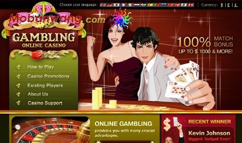 棋牌赌博娱乐网页模板