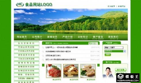 绿色食品公司网站模板