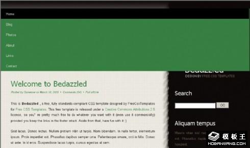 桌布BLOG网页模板