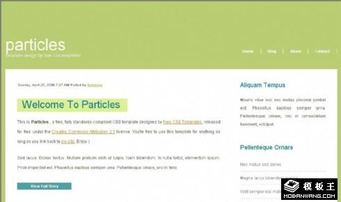 浅绿二列BLOG网页模板