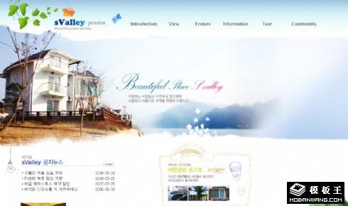 山谷休闲度假中心网页模板