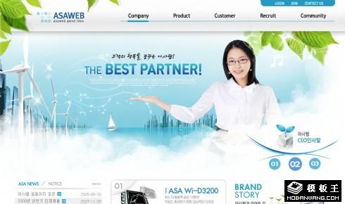 生态能源科技公司网页模板