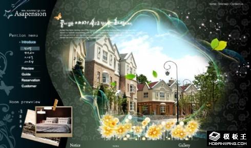 深绿别墅小区网页模板