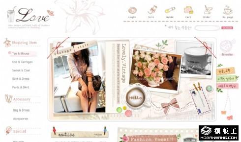 可爱女性服饰网店网页模板