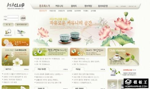 荷花茶韵社区网页模板
