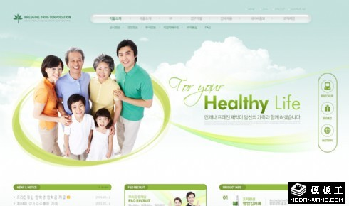 绿色保健药品公司网页模板